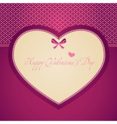 template frame design for valentines card vector image vector image