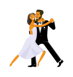 Wedding dance lessons vector
