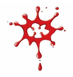 Large drops of blood icon vector