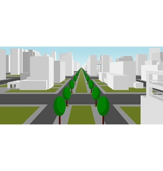 Street in a modern city vector