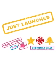 Just launched rubber stamp vector