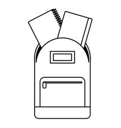 School bag book notebook thin line vector