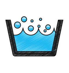 Laundry water indicator icon vector