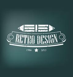 Retro vintage design elements business signs vector