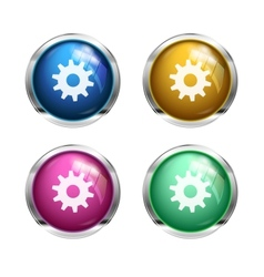 Settings cogwheel button vector