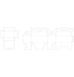 box pattern vector image