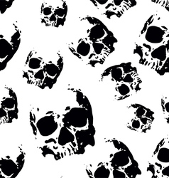 Skull seamless pattern vector