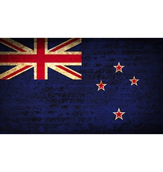 Flags new zeland with dirty paper texture vector