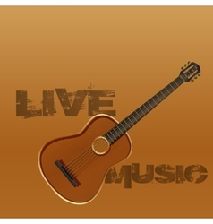 Live music guitar vector