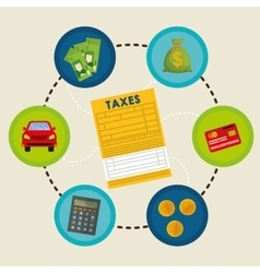 Pay taxes graphic design vector
