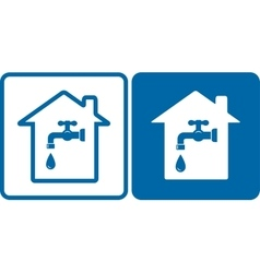 set of house and water tap vector image