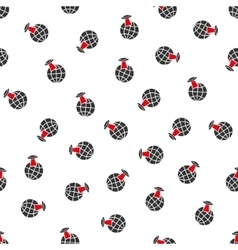 Alien visit flat seamless pattern vector