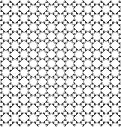 Monochrome seamless pattern oriental style vector image