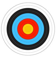 Archery Target vector image
