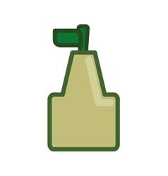 Pixel pear icon healthy food design vector