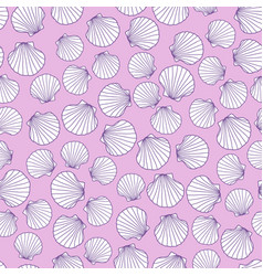 abstract seamless texture with pink seashells vector image