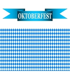 blue ribbon with the words Oktoberfest vector image