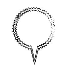 Blurred silhouette bubble callout scream for vector