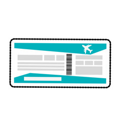 boarding pass or plane ticket icon image vector image vector image