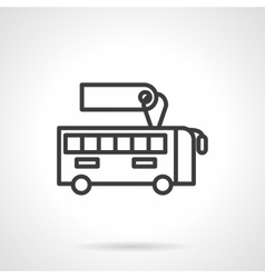 Bus with sale label black line design icon vector image