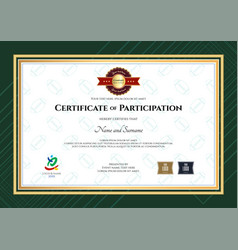 certificate of participation template in sport vector image vector image