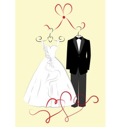 Clothing for weddings vector image