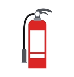 Color silhouette with fire extinguisher vector