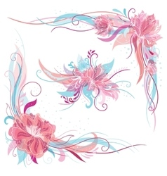 Creative Romantic Floral Ornaments vector image vector image