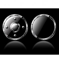 decorative shields vector image vector image