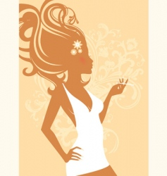 elegant women vector image