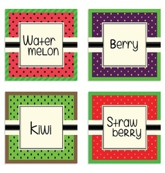 Fruit product label frames vector