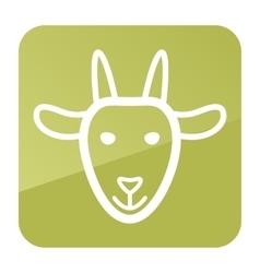 Goat icon farm animal vector