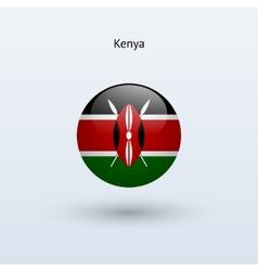 Kenya round flag vector