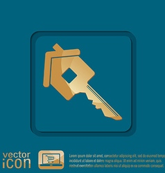 key in the house real estate icon home sign vector image