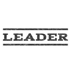 Leader watermark stamp vector