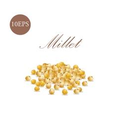 Millet of 10 eps vector