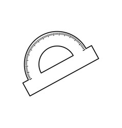 protractor angle meter vector image vector image