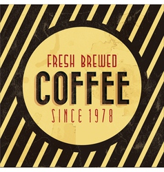 Retro vintage coffee background vector