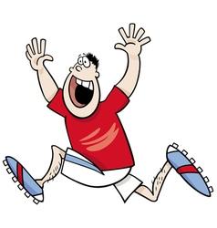 Runner winner cartoon vector