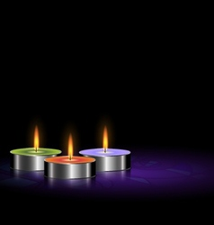 Small candles vector