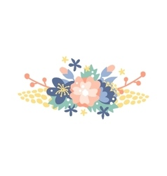 Spring wreath frame and vintage spring wreath vector image