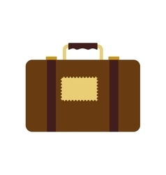 Suitcase bag luggage baggage travel icon vector