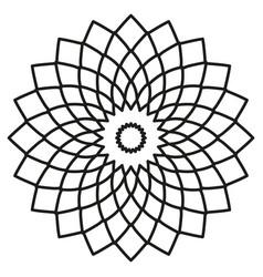 symmetric circular tribal ethnic ornament on a vector image vector image