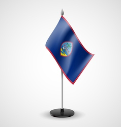 Table flag of guam vector