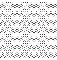 Thin wavy lines seamless pattern vector