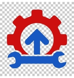 Gear integration tools icon vector
