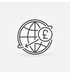 Pound international money transfer icon vector