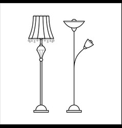 floor lamps for house vector image