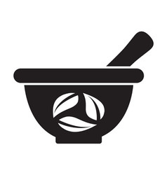 Mortar and pestle vector
