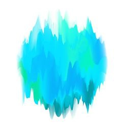 Abstract painted form in blue vector
